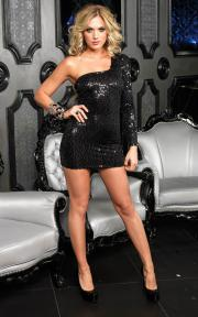 Sequin Asymmetrical Mini Dress by Leg Avenue.