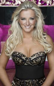 Ultimo founder and designer Michelle Mone, wearing an Ultimo design.