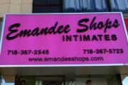 The exterior of Emandee Shops in the Bronx, N.Y.