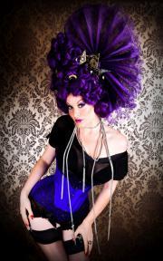 A deep purple corset by Velda Lauder.