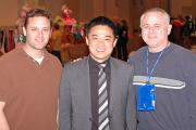 Dave Silberstein of Pierre Silber, Mike Tsai of Leg Avenue and Pierre Silberstein of Pierre Silber.