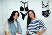 Helena Sokoloff and Designer Sofia Sokoloff at their MAGIC booth.