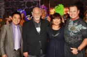 Mike Tsai of Leg Avenue, Gerry Rittenberg of Amscan, Amy Tsai of Leg Avenue and Pro Wrestling Hall of Famer Jerry Lawler.