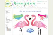 An image from Honeydew's web site, illustrating the firm's unique approach to intimates.