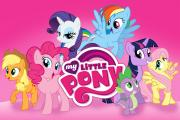 Characters from the My Little Pony series, seen on the Hasbro website