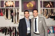 Albert Katz and Jimmy Guindi with the new Larry Levine collection at Magic.
