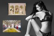 Two views of the La Perla shop in Costa Mesa, and a new style.