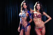 Adriana Lima, Alessandra Ambrosio in the 2014 Victoria's Secret Fantasy Bras (PRNewsFoto/Victoria's Secret)
