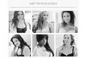 "Women in the Panache ""Modeled by Role Models"" ad campaign."