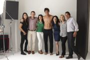 Serra (far right, next to Carole Hochman) in a team photo from the Naked website.
