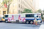 Fashion Forms New York City bus ads from earlier this summer.