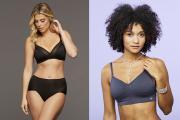Montelle's Wire Free Plus bra, and Miel's Nana bra.
