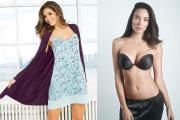 Examples of Maidenform sleepwear and a bra.