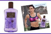 Fresh and a retailer ad offering a free bottle of Fresh with every sport bra purchase.