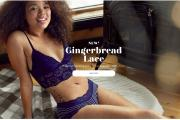 A bralette in Aerie's Gingerbread Lace collection.
