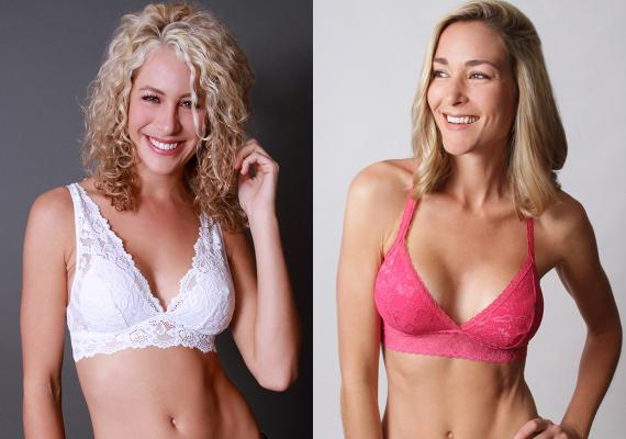 Two styles of Undie Couture bralettes