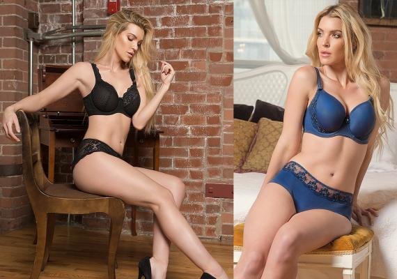 New colors at Fit Fully Your include Black, for the Serena group, and Blue in the Gloria collection.