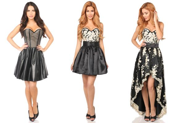 Separate corsets and skirts provide a multitude of looks.