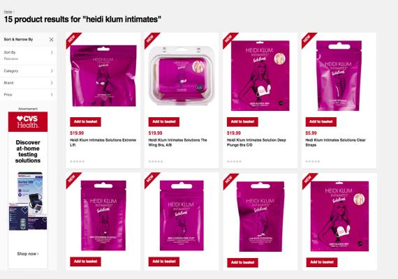 Heidi Klum solutions products on CVS.com.