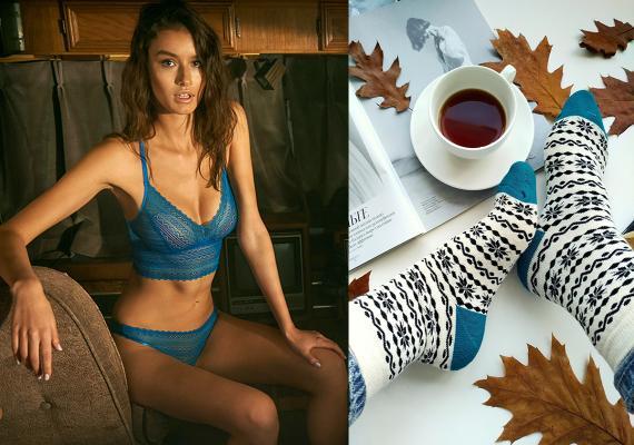 Ajour's new Bretelle lingerie and V&T sock lines.
