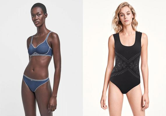 Taylor Cup Bra ($250), String ($90) and Om String Body ($230) on the Wolford site.