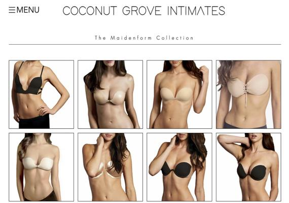 """A portion of iFabric's """"Maidenform Collection."""""""