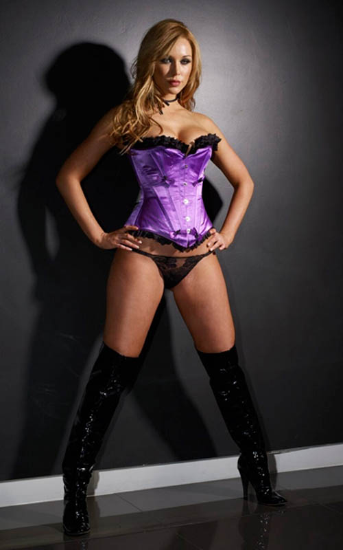 A deep purple corset by Velda Lauder.