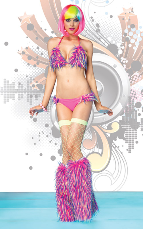 A look from Rave wear by Leg Avenue.