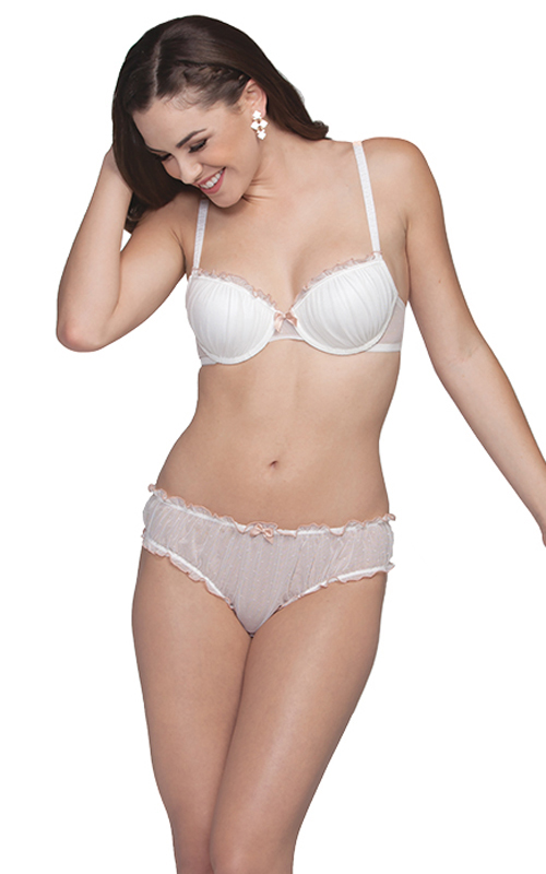 �Anjelica� Contour Bra (style # 651) and Bloomer Thong (style #654) from Affinitas S/S 2013
