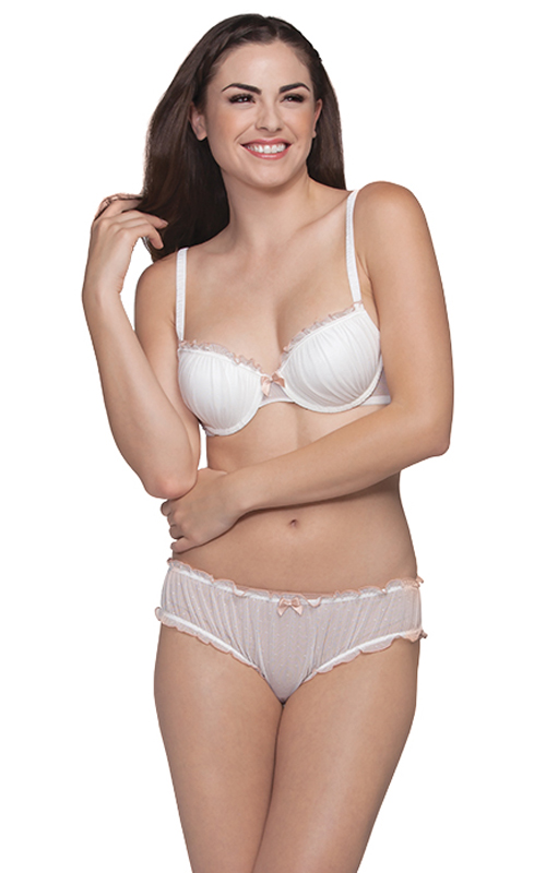 �Anjelica� Contour Bra (style #651) and Bloomer Hipster (style #655) from Affinitas S/S 2013