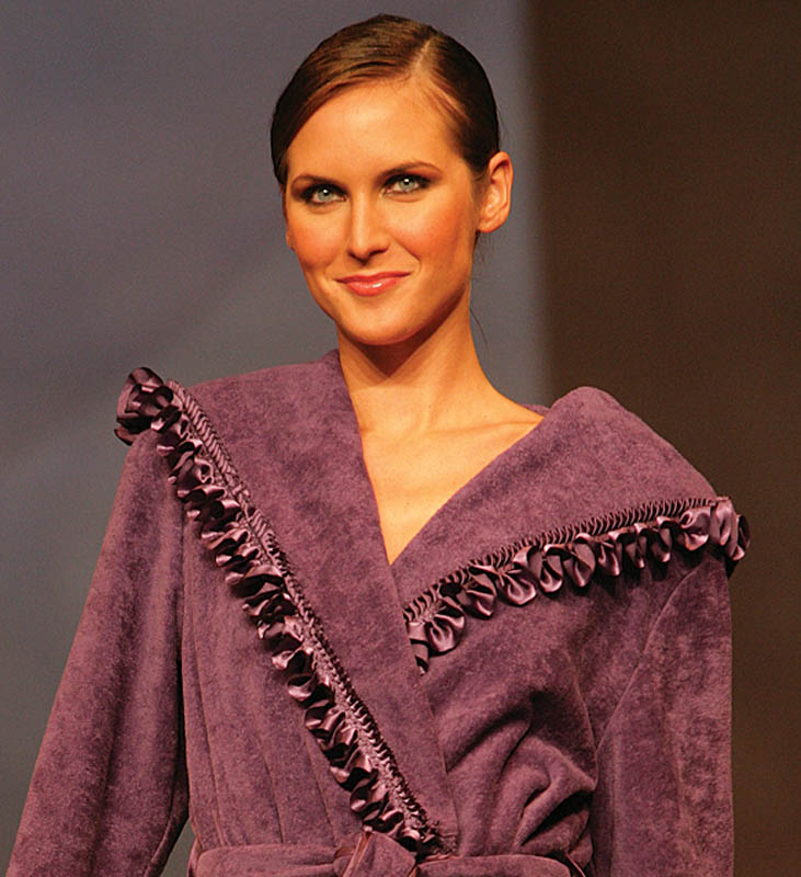 Acqua by Regence: Ruffled purple dressing gown.
