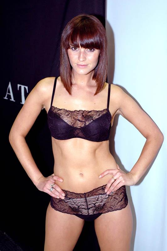 Model Toni Busker in Natori.