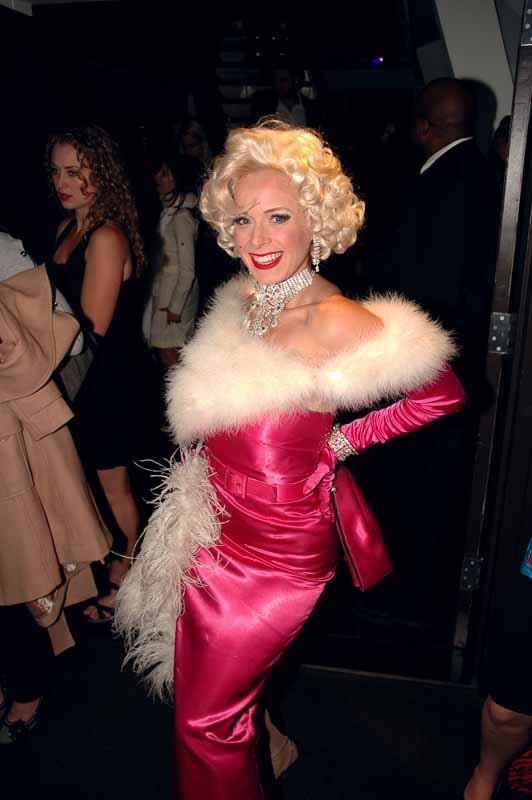 Marilyn Monroe costume model.