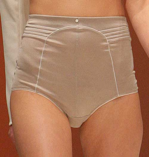 Wundervoll: Taupe high-waist bottom.