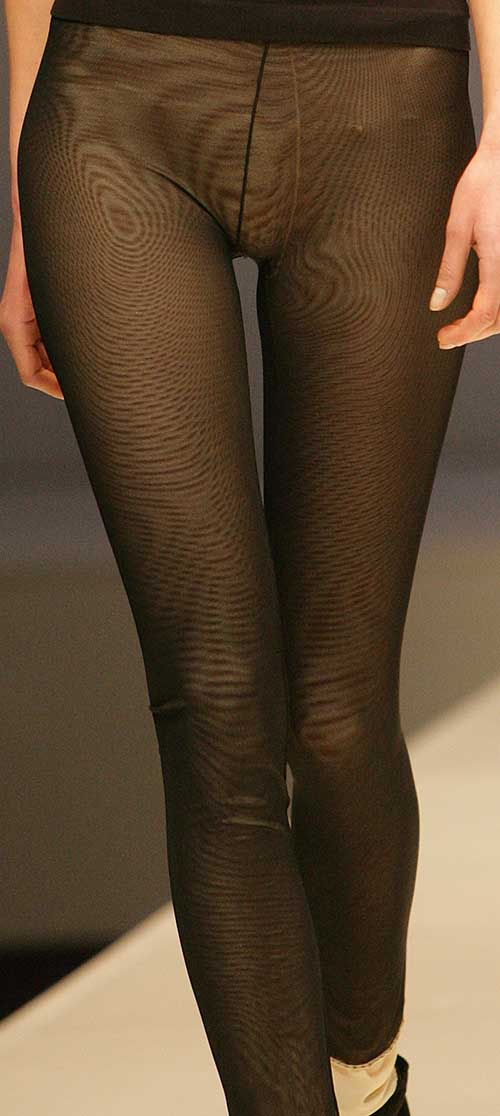 My Way Legwear: Black and nude leggings.