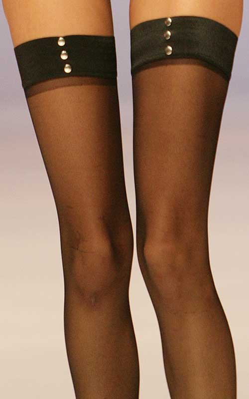 My Way Legwear: Black stockings.