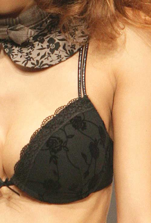 Sassa: Jacquard panther bra.