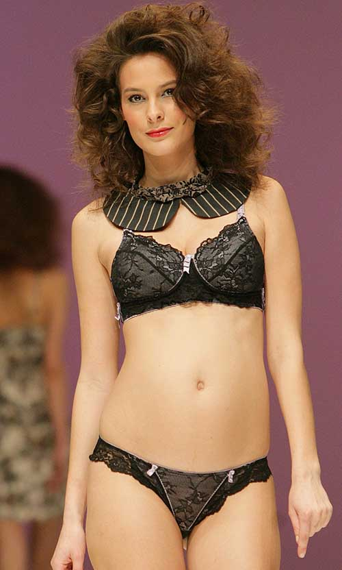HOTmilk Lingerie: Black pregnancy bra and shorty.