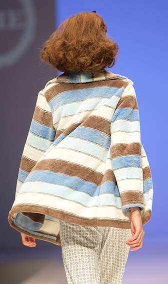 Lohe: Blue and eccru striped pajamas.