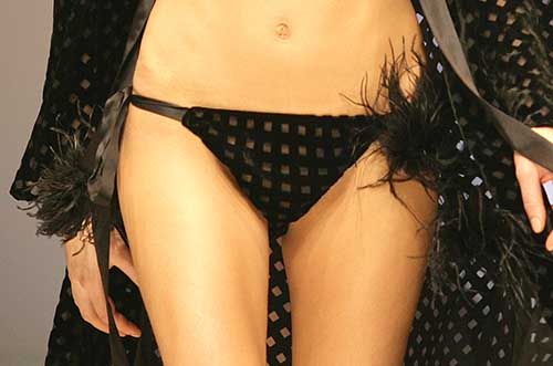 Harlett Luxury Lingerie: Black panty.