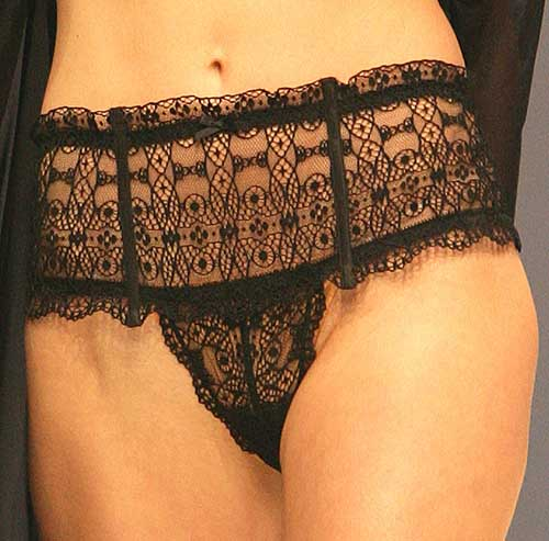 Harlette Luxury Lingerie: Black shorty.