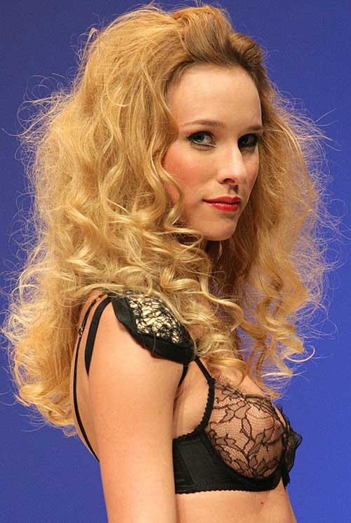 Myriam Girard: Black bra.