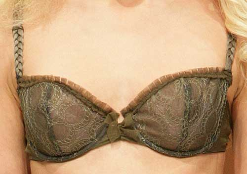 Lou: Khaki and gray bra.