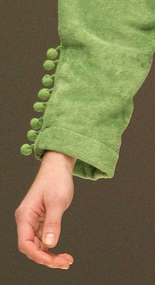 Acqua by Regence: Sleeve of green wrap.