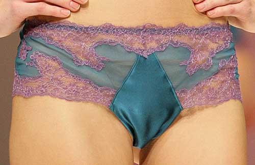 Valery Prestige: Turquoise and purple Brazilian brief.