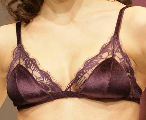 Valery: Velvet purple bra.