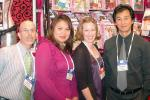 Mark Rosenfeld and Anna Cruz of Music Legs with Eileen Kelly of Spencer Gifts and Joseph Tok of Music Legs.