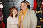 Patty Gatto of Delicious and Howard Beige of Rubie's Costume Company at the International Halloween Show.
