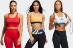 Samples from the current Adidas sports bra line.